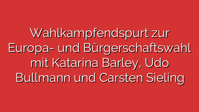 Wahlkampfendspurt zur Europa- und Bürgerschaftswahl mit Katarina Barley, Udo Bullmann und Carsten Sieling