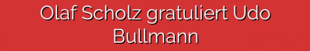 Olaf Scholz gratuliert Udo Bullmann