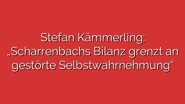 """Stefan Kämmerling: """"Scharrenbachs Bilanz grenzt an gestörte Selbstwahrnehmung"""""""