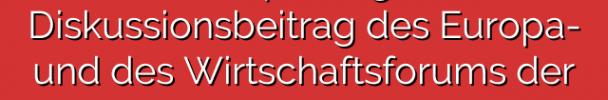 """""""Mehr Europa wagen"""" – ein Diskussionsbeitrag des Europa- und des Wirtschaftsforums der KölnSPD"""