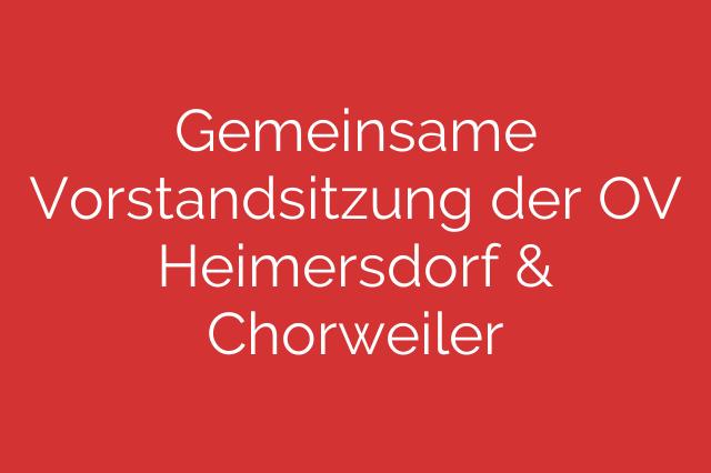 Gemeinsame Vorstandsitzung der OV Heimersdorf & Chorweiler