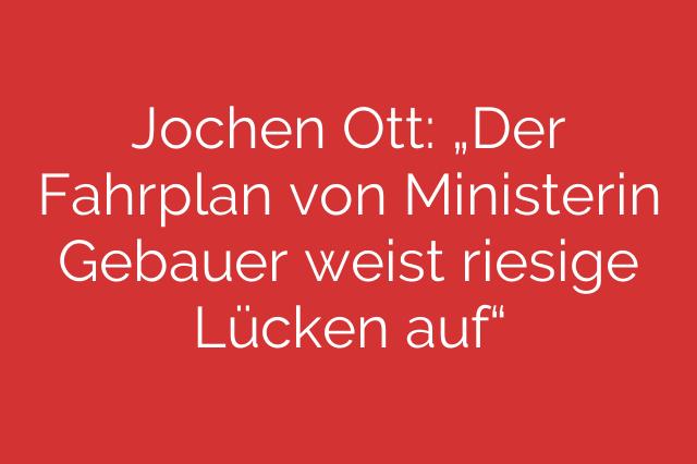"""Jochen Ott: """"Der Fahrplan von Ministerin Gebauer weist riesige Lücken auf"""""""